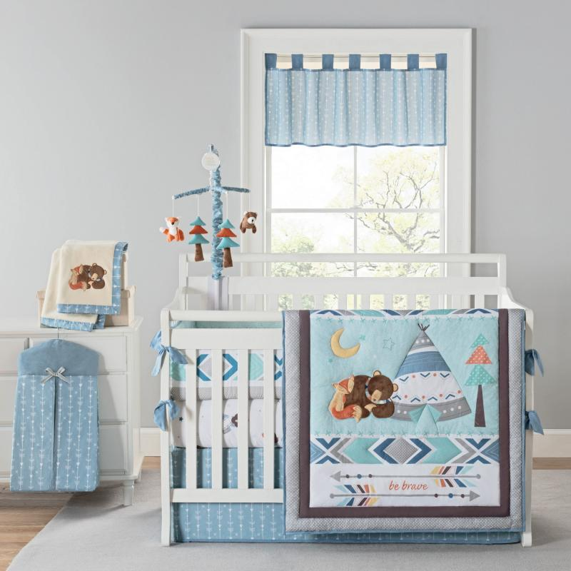 Be Brave Southwest Crib Design with Engineered Print Design
